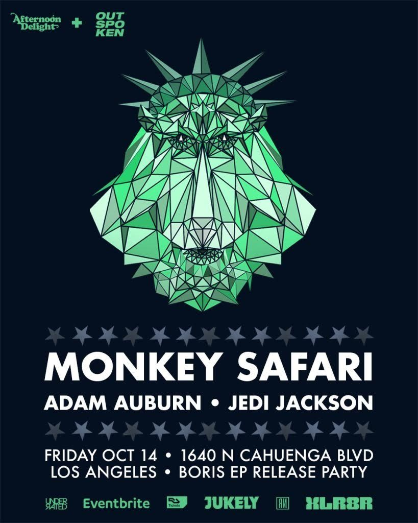 Monkey Safari at Couture October 14, 2016 with Adam Auburn and Jedi Jackson