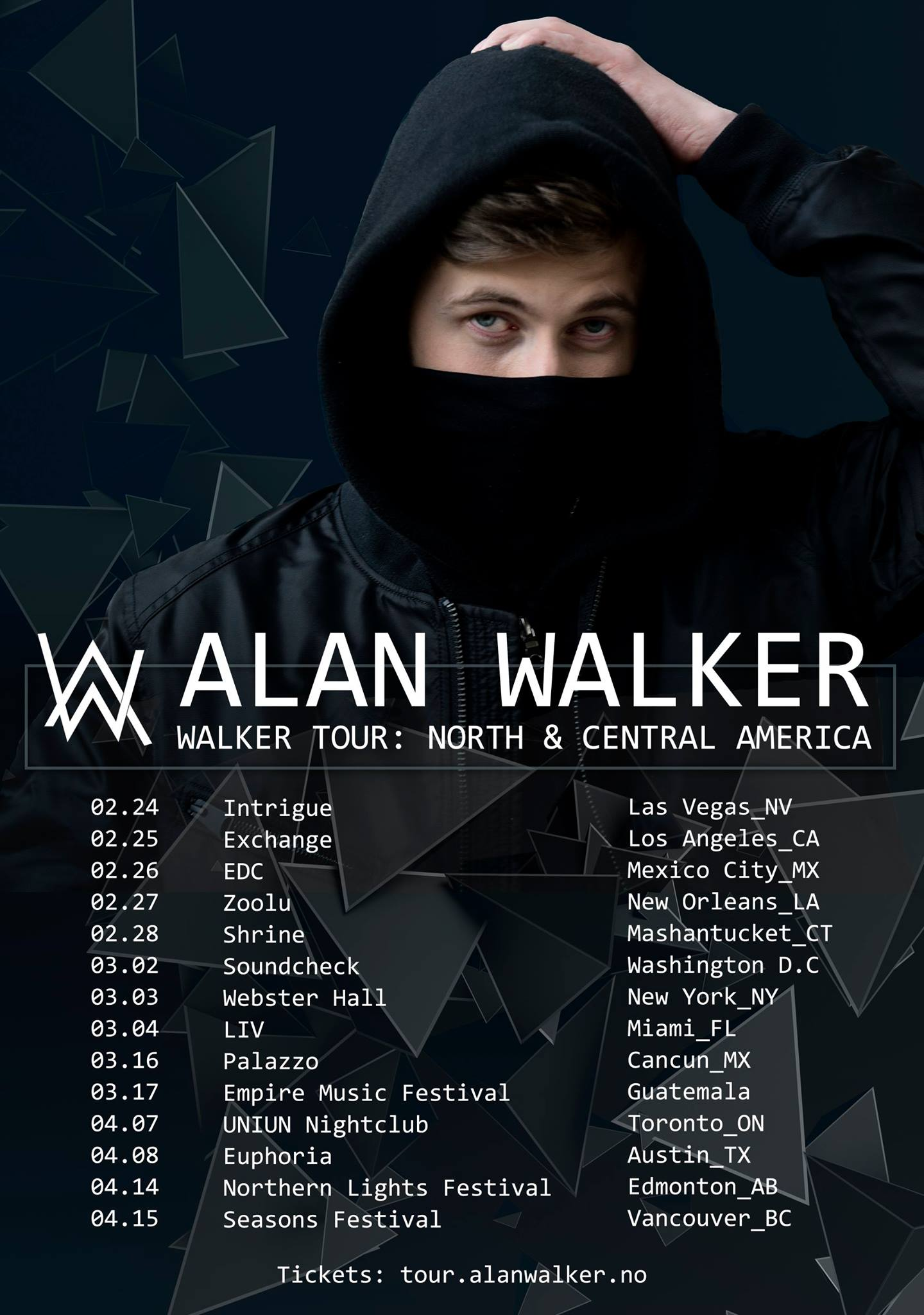 Alan Walker tour poster