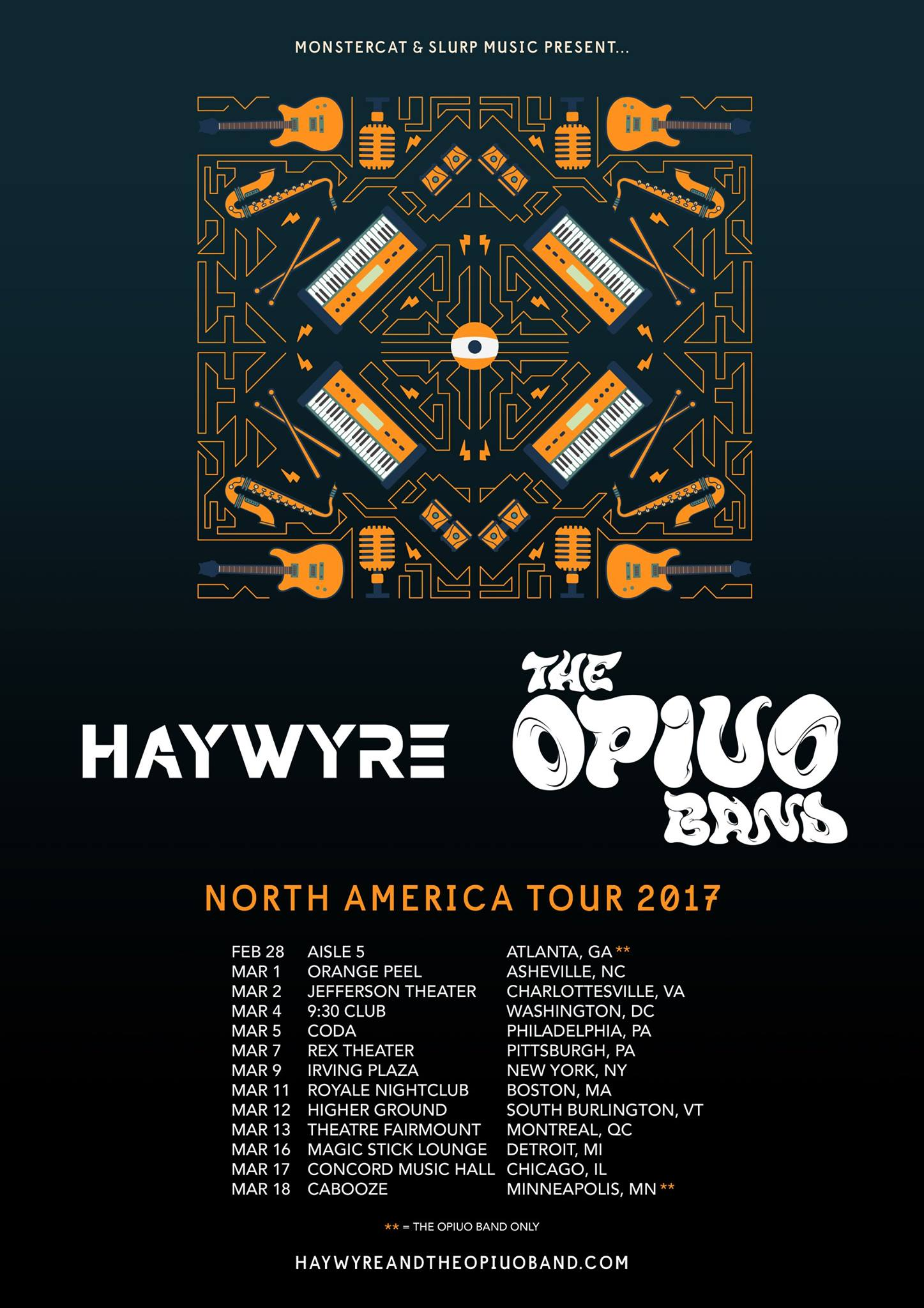 Opiuo tour poster