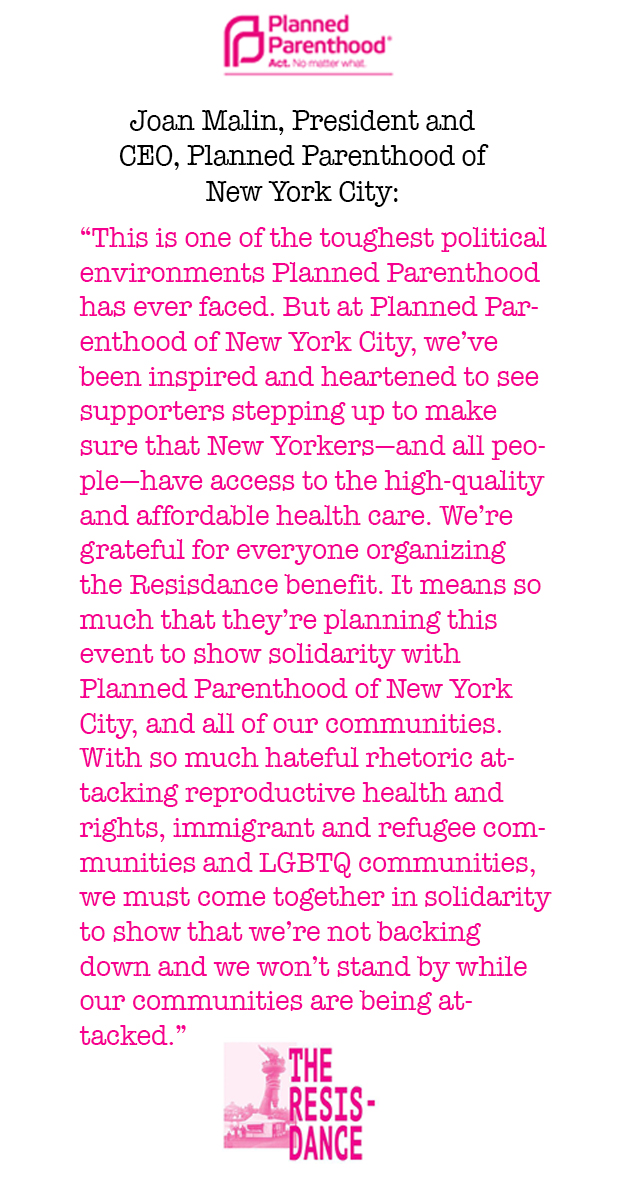 Planned Parenthood statement on the Resisdance