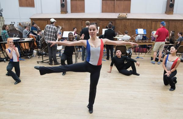 Dallas Neo-Classical Ballet's Whitney Hart rehearses 391 with SMU's Syzygy on April 8, 2017. (Rex C. Curry/Special Contributor)