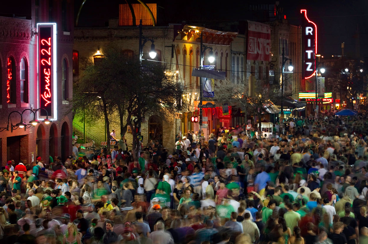 Austin crowd no rideshare could get through