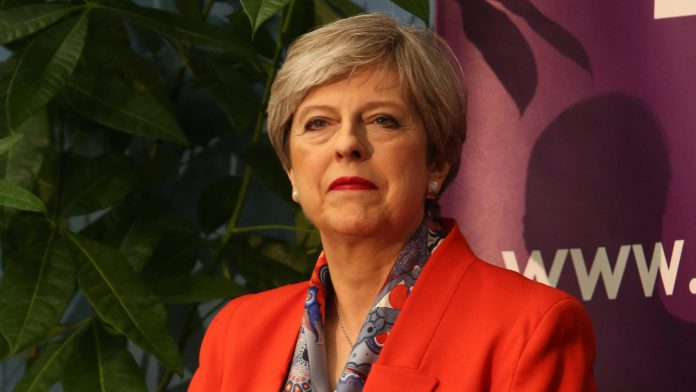 Theresa May after the UK election