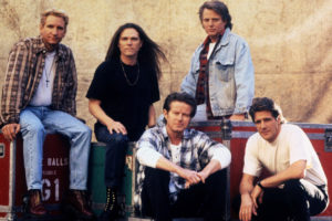 """After fourteen years, the 70's rock group """"The Eagles"""" have reunited for a sold out reunion tour, which begins May 27 in Irvine, California. From left top are: Joe Walsh, Timothy B. Schmidt and Don Felder. Bottom left: Don Henley and Glenn Frey - RTXFCR7"""