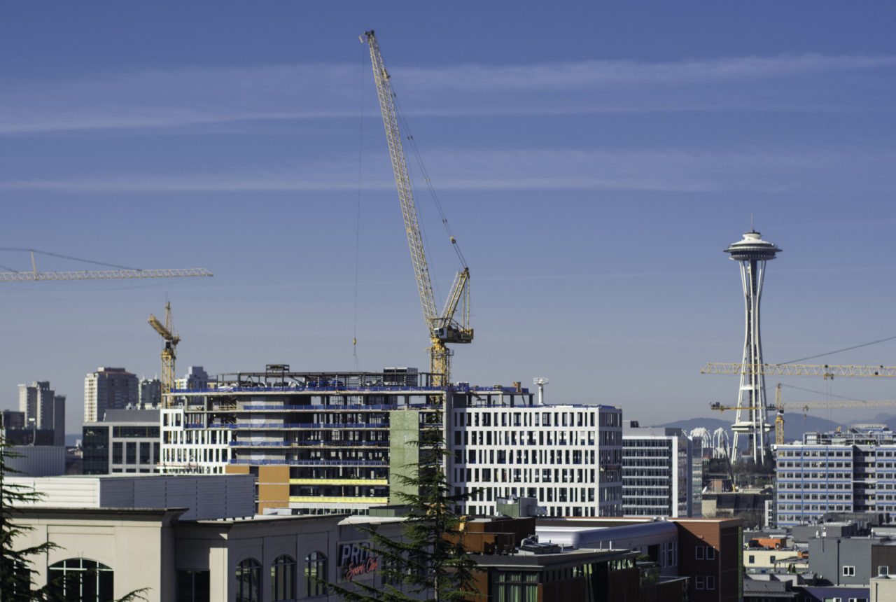 Seattle's skyline dotted by construction cranes, hurting efforts to save music venues