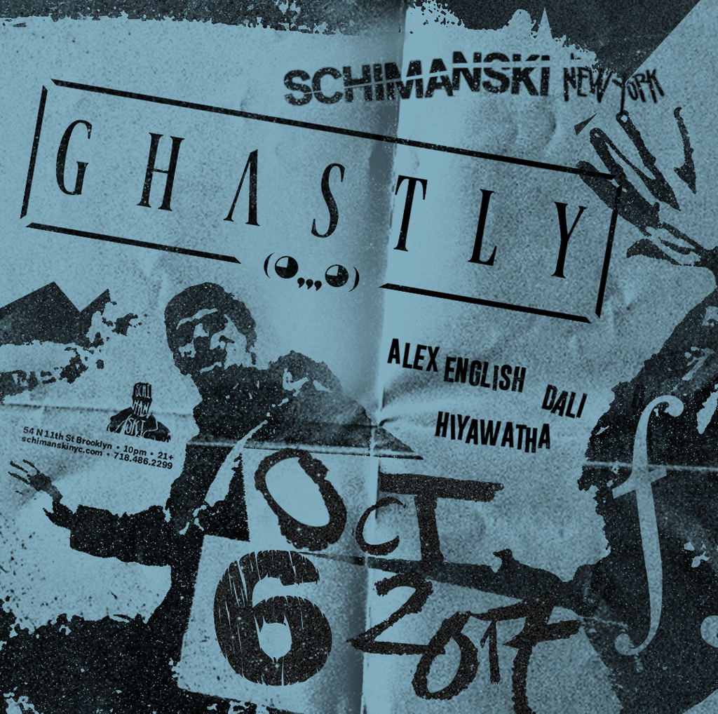 Ghastly at Schimanski show poster