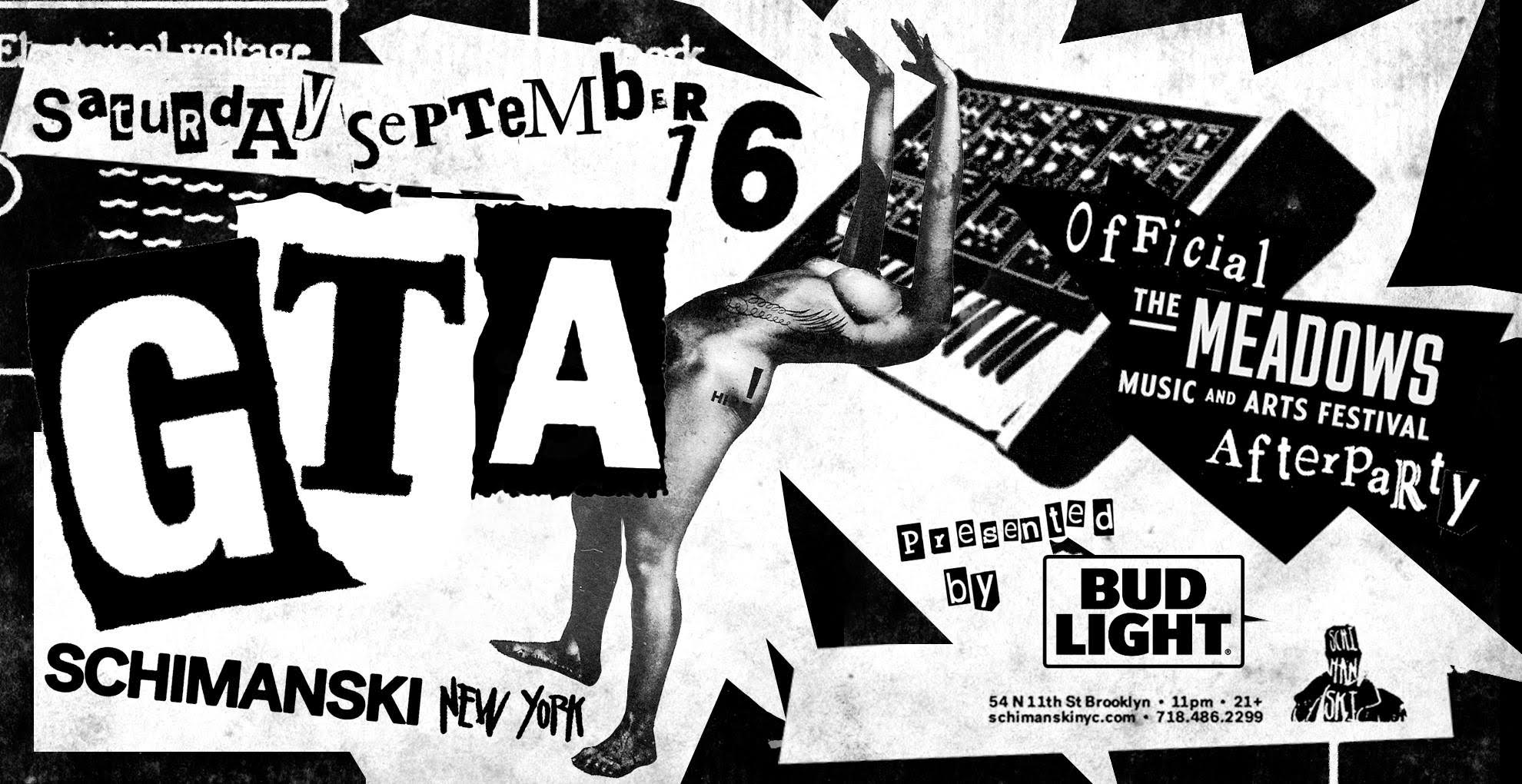 GTA show at Schimanski poster The Meadows after party