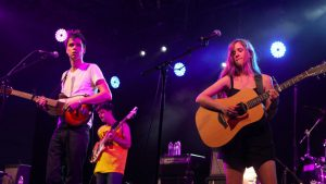 David Longstreth and Amber Coffman performing as Dirty Projectors