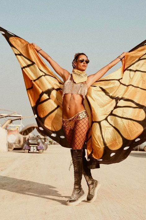butterfly Halloween rave outfit