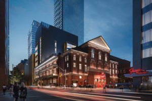 "Massey Hall, Centuries Bar & Lounge (expanded), and a small ""to-be-named venue"""