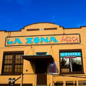 La Zona Rosa facade, soon to be LZR