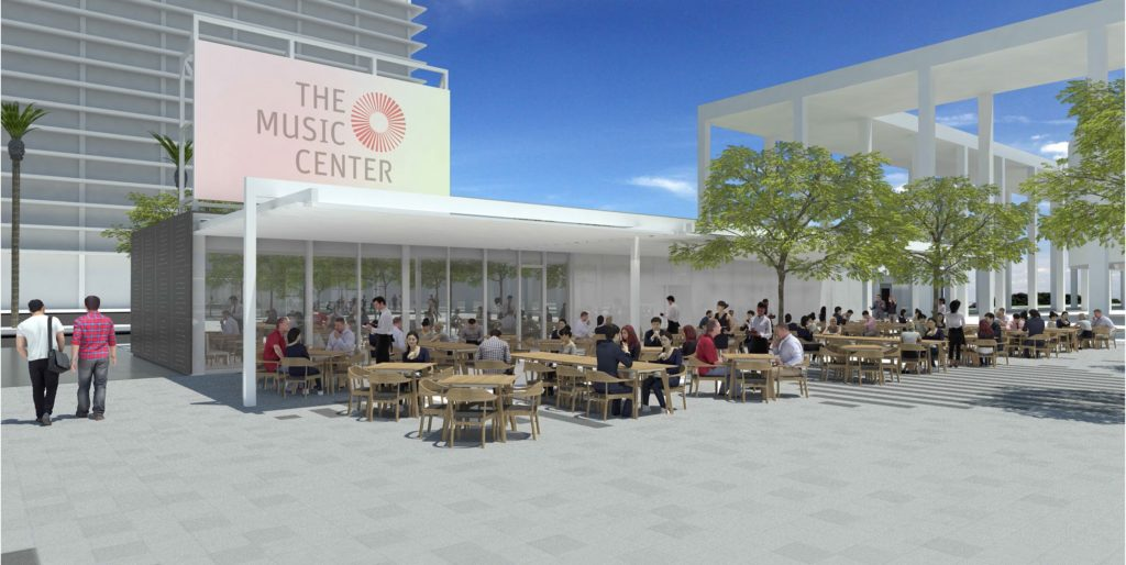 The Music Center renovations rendering