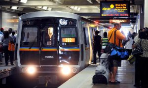 atlanta traffic marta train