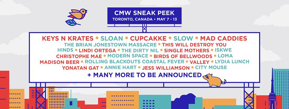 Canadian Music Week lineup poster