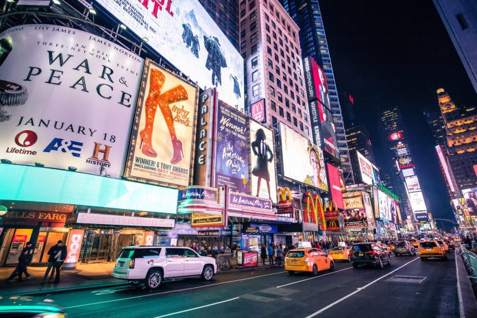 nightlife capital New York times square