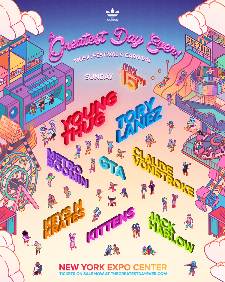 Greatest Day Ever 2018 Sunday lineup poster