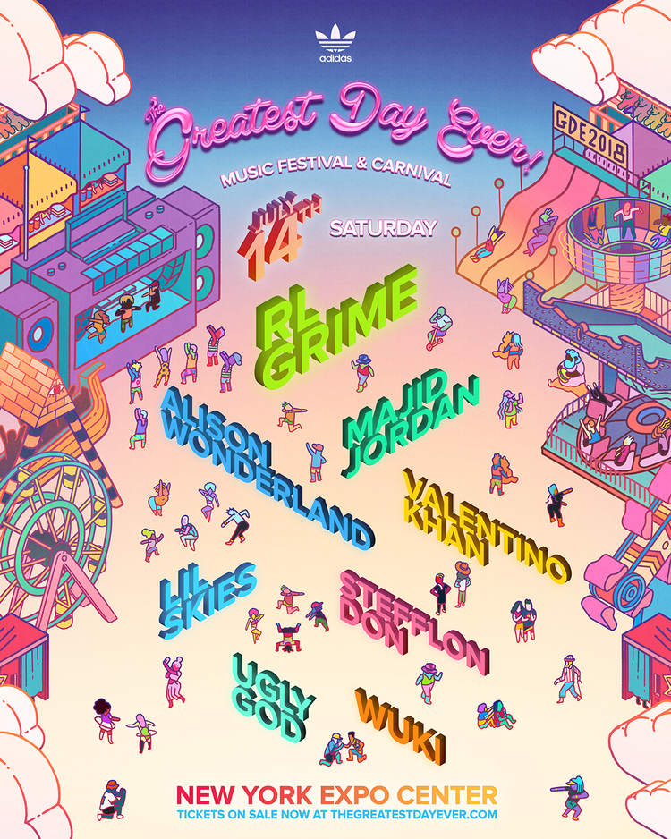 Greatest Day Ever 2018 Saturday lineup poster