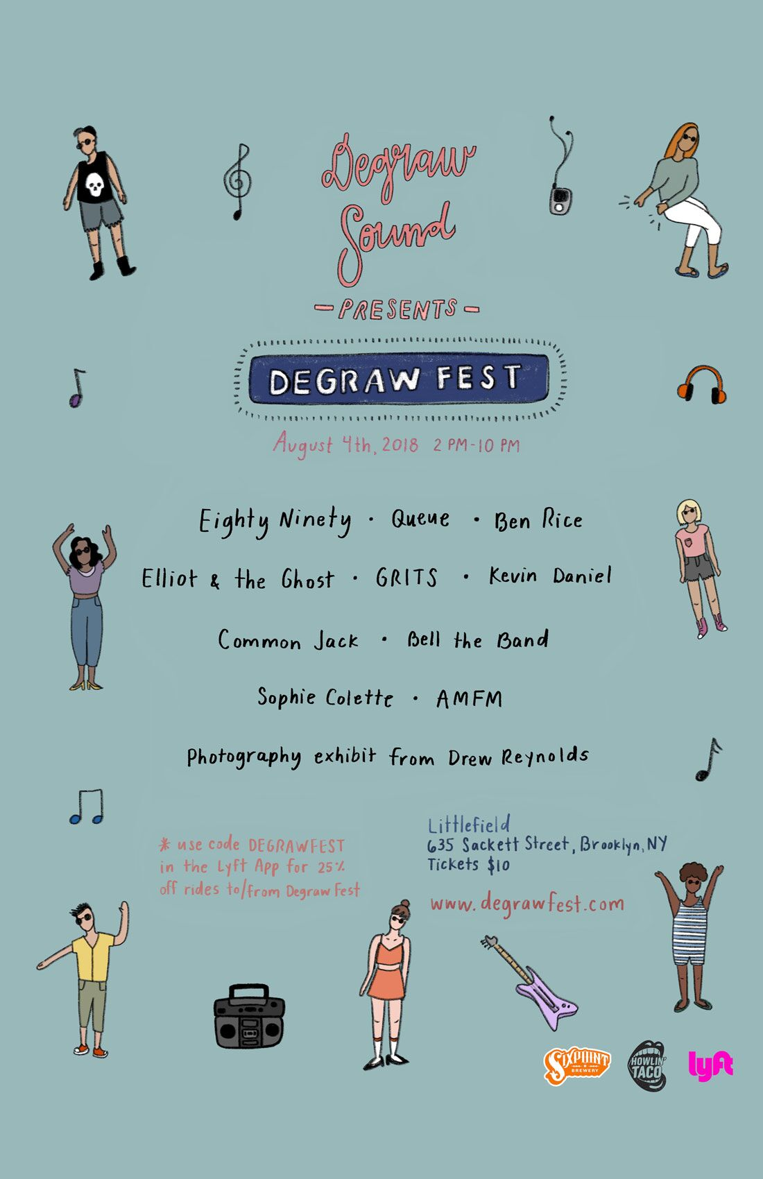 Degraw Fest lineup poster